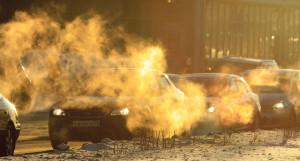 Пробки в Барнауле, автомобили зимой.