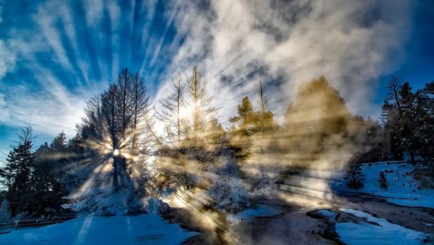 Зима. Солнце. Снег