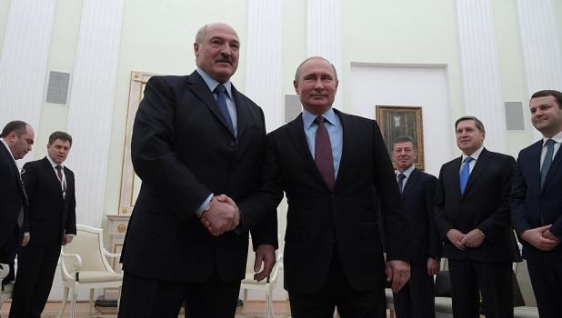 Встреча Владимира Путина и Александра Лукашенко в Кремле. 25 декабря 2018 года.