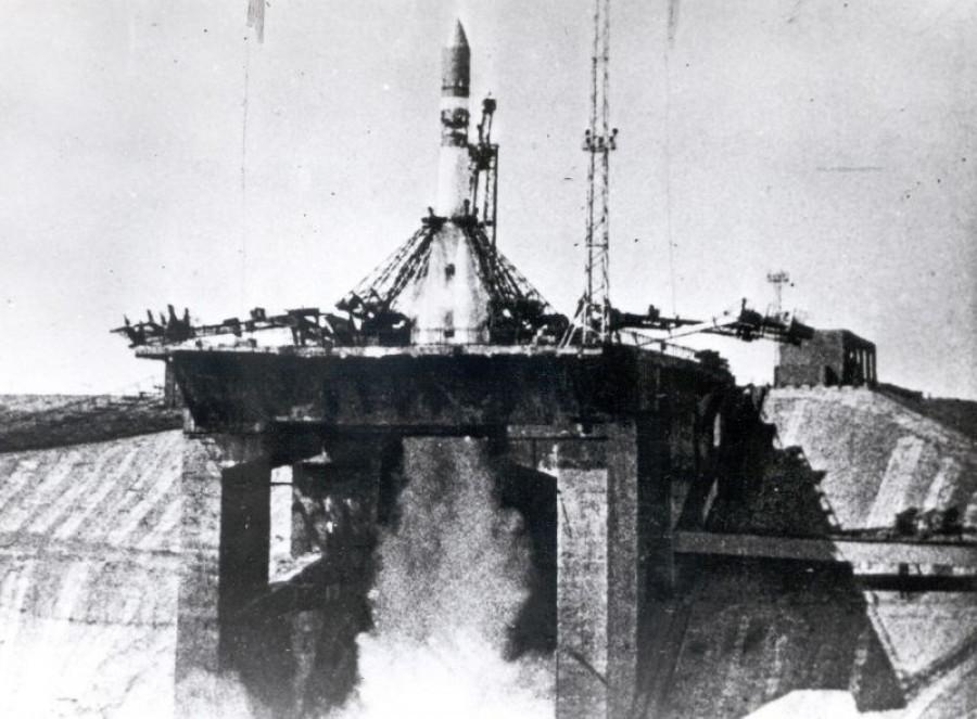 Стартовая площадка космических кораблей на Байконуре, 1960 год