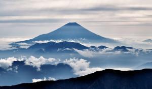 Япония. Вулкан Фудзияма (Фудзи).