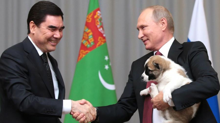 Гурбангулы Бердымухамедов и Владимир Путин.