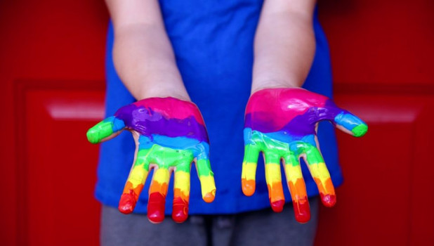 Радуга, символ ЛГБТ.