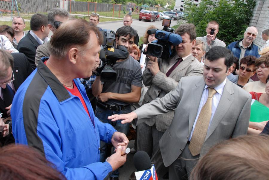 Александр Хинштейн в Барнауле в 2009 году.