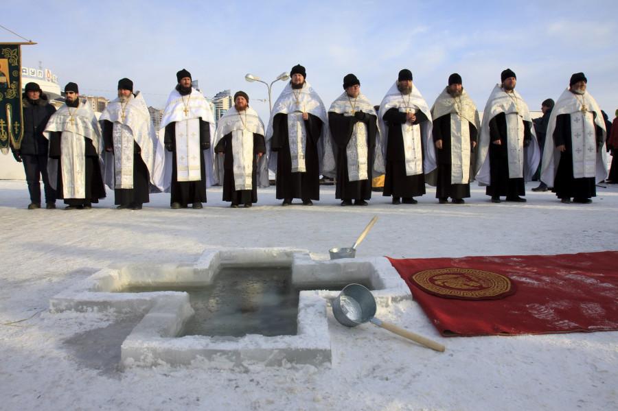 19 декабря 2019 года в Барнауле. Крещение.