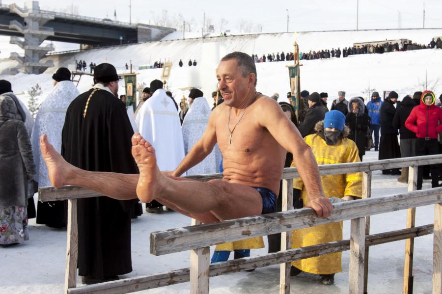 Крещение в Барнауле 19 января 2019 года.
