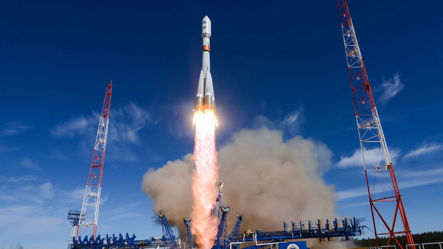 Пуск ракеты-носителя «Союз-2».