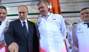 Владимир Путин и Анатолий Чубайс.