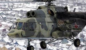 Военный вертолет Ми-8.