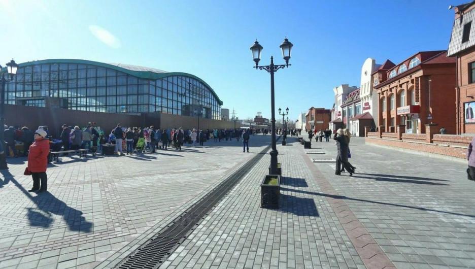 Арбат в Барнауле.