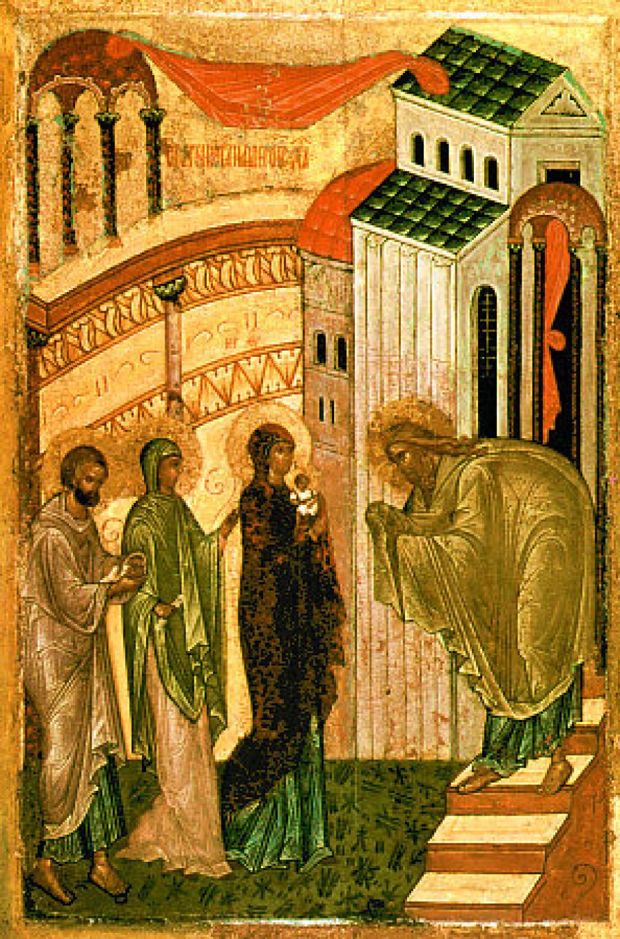 Сретение. Русская икона конца XV века