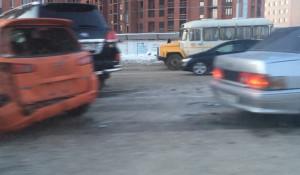 В массовую аварию в Новосибирске попали 10 машин. 15 февраля 2019 года.