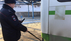 Проверка автобуса в Барнауле.