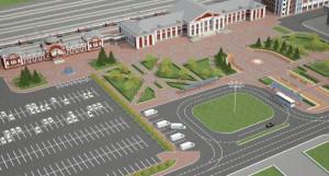 Предпроектный вариант реконструкции ж/д вокзала в Барнауле.