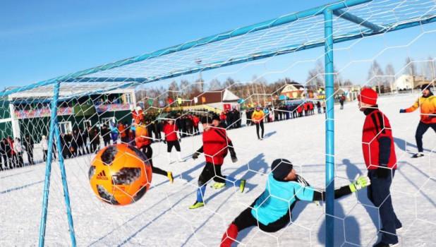 Футбольные матчи сельской олимпиады в Ребрихе