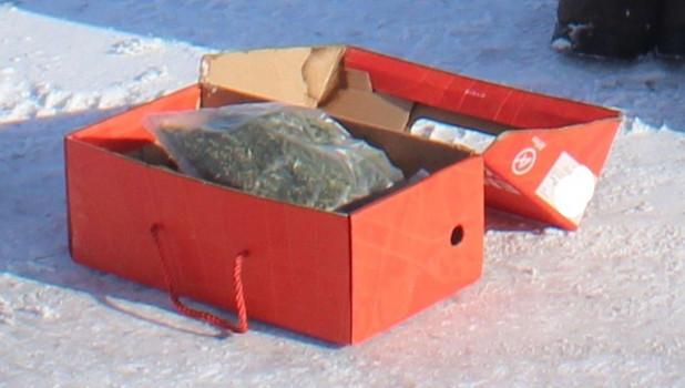 Коробка с наркотиками.