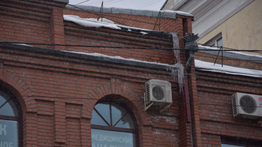 Сосульки в Барнауле. Февраль 2019 года.
