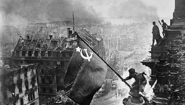 Знамя Победы над Рейхстагом.