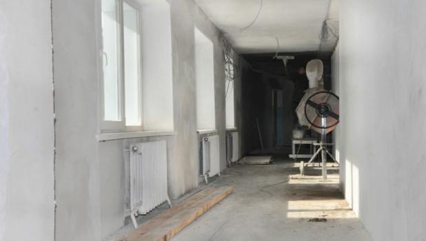 Ремонт в здании Курьинской ЦРБ.