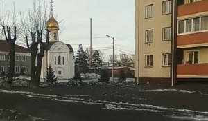 Черный снег в Кузбассе.