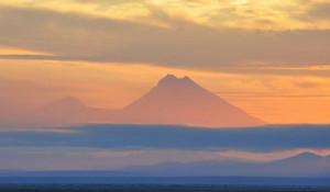 Вулкан Шивелуч, Камчатка.