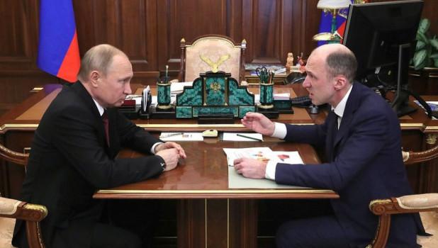 Встреча Владимира Путина и Олега Хорохордина.