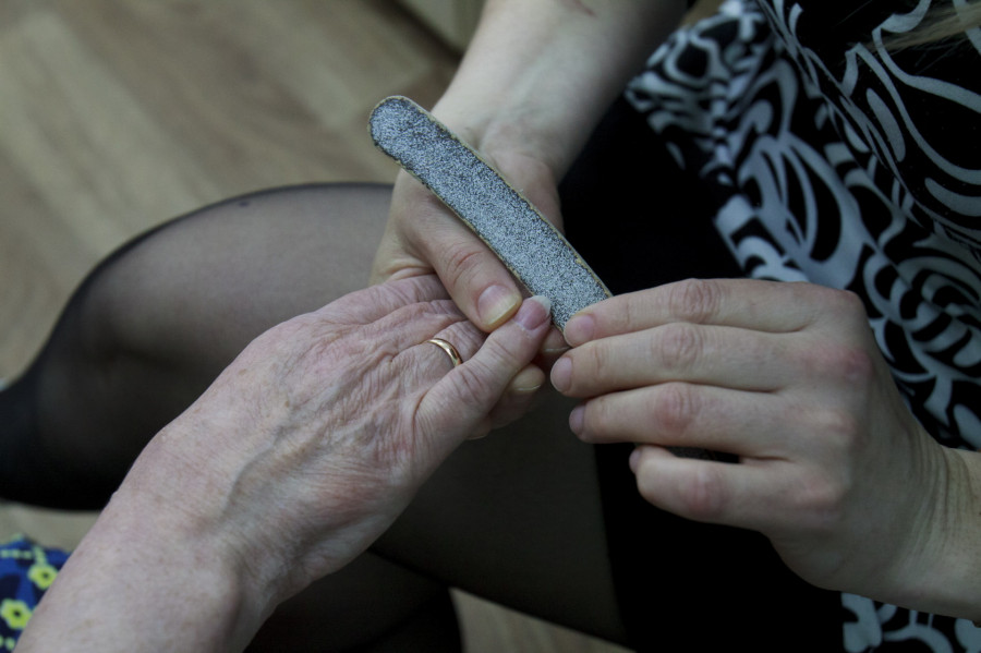 """Фонд """"Старость в радость"""" в паллиативном отделении больницы №3."""