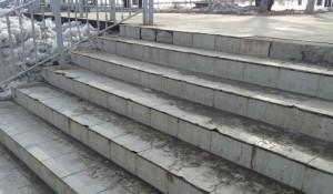 Лестница в Нагорный парк 29 марта 2019 года.