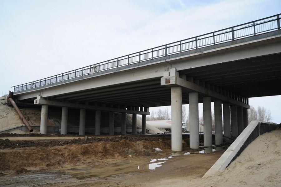 Развязка у моста через Чумыш. 29 марта 2019 года.