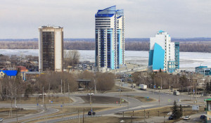 Вид на Барнаул. Новостройки.