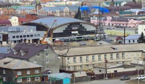 Вид на Барнаул. Старый базар.