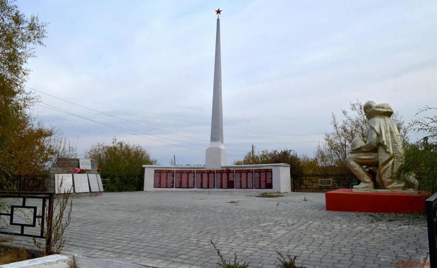 Памятник павшим в годы Великой Отечественной войны в 1941-1945 годах (после капремонта).