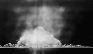 Вид на эпицентр взрыва. 29 августа 1949. Ядерные испытания