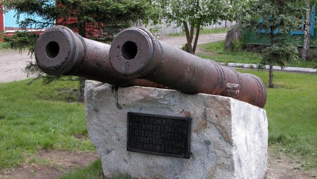 Пушки Бийской крепости.