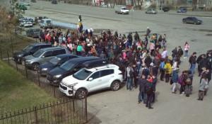 Эвакуация в Бийске 22 апреля.