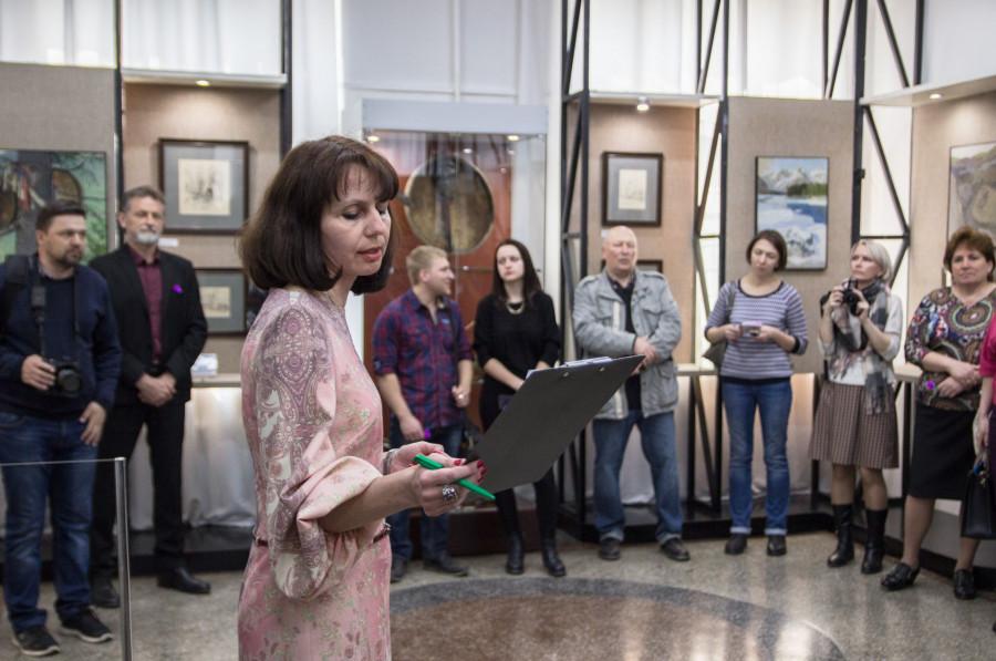 Выставка Григория Чорос-Гуркина в краеведческом музее.