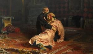 """Фрагмент картины Ильи Репина """"Иван Грозный и сын его Иван 16 ноября 1581 года"""""""