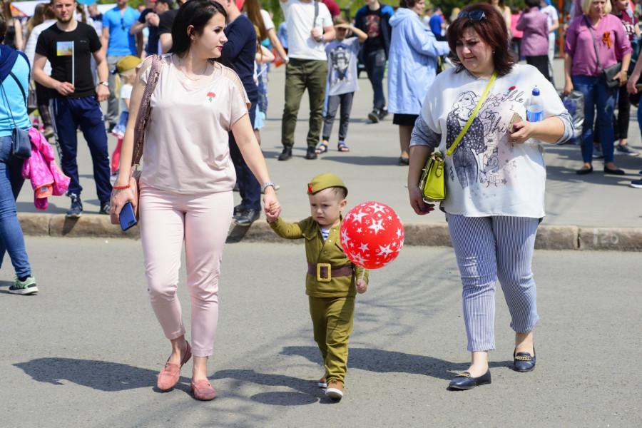 День Победы в Барнауле. 2019 год.