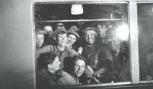 Первые посетители метро