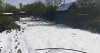 Снег в селе Романово 15 мая.