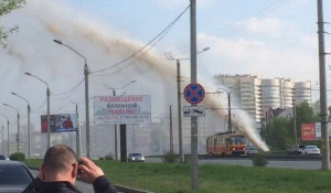 Коммунальный фонтан в Барнауле 17 мая.