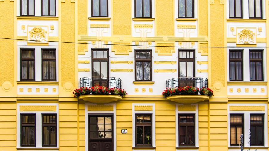 Фасад. Балкон. Дом.