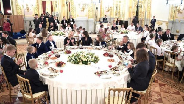 Торжественный прием многодетных семей в Кремле.