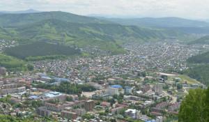 Вид на Горно-Алтайск.