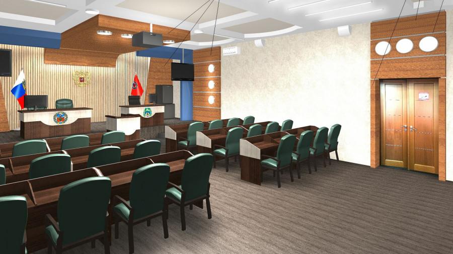 Новый зал в мэрии Бийска.