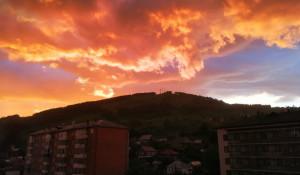 Закат в Горно-Алтайске.