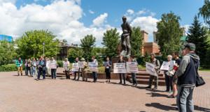 Митинг в защиту исторических памятников Барнаула.