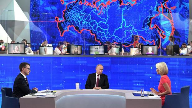 """Подсчитано: """"прямая линия с Путиным"""" собрала минимальную с 2011 года аудиторию"""