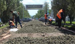 Начался ремонт главной аллеи Барнаула