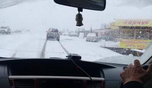 Снег на Семинском перевале